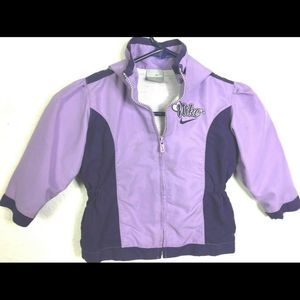 Nike Girl 3T Purple Hooded Zip Up Jacket